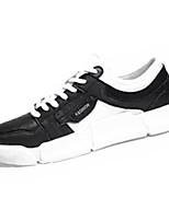 Недорогие -Муж. Комфортная обувь Полиуретан Осень На каждый день Кеды Доказательство износа Белый / Черный