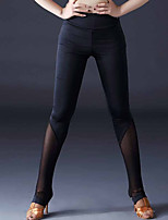 cheap -Latin Dance Leggings / Tights Women's Performance Ice Silk Ruching Natural Pants