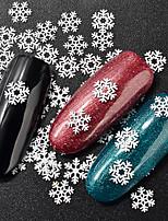 Недорогие -1 pcs Стразы для ногтей Мини / Лучшее качество Цветы Снежинка маникюр Маникюр педикюр Рождество / фестиваль Художественный / Милая