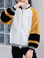 cheap -Kids Girls' Patchwork Long Sleeve Jacket & Coat