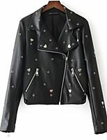 Недорогие -Жен. Кожаные куртки Панк & Готика - Гусиная лапка