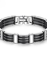 abordables -Homme Chaîne épaisse Bracelet - Acier inoxydable, Acier au titane, Platiné Original, Branché Bracelet Noir Pour Plein Air
