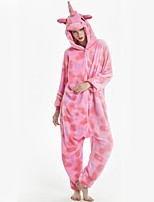 cheap -Adults' Kigurumi Pajamas Flying Horse Onesie Pajamas Flannel Fabric Pink Cosplay For Men and Women Animal Sleepwear Cartoon Halloween Festival / Holiday