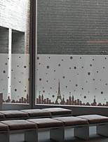 cheap -Window Film & Stickers Decoration Ordinary Cities PVC(PolyVinyl Chloride) Window Sticker