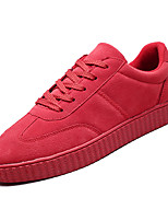 Недорогие -Муж. Комфортная обувь Полиуретан Осень На каждый день Кеды Нескользкий Серый / Красный / Миндальный