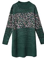 Недорогие -Жен. На выход Тонкие Трикотаж Платье Вырез под горло Выше колена / Сексуальные платья