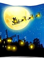 Недорогие -Наволочка Новогодняя тематика Фланелет Прямоугольный Мультипликация Рождественские украшения