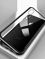 Недорогие -Кейс для Назначение Apple iPhone X / iPhone 8 / iPhone 8 Plus Защита от удара / Прозрачный / Магнитный Чехол Однотонный Твердый Закаленное стекло / Металл для iPhone X / iPhone 8 Pluss / iPhone 8