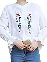 Недорогие -Жен. Рубашка Активный Цветочный принт