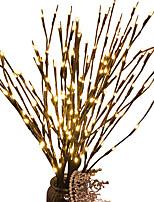 Недорогие -1шт LED Night Light Тёплый белый Аккумуляторы AA Регулируется / Свадьба / Украшение <5 V