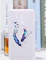 Недорогие -Кейс для Назначение Huawei Mate 10 pro / Mate 10 lite Прозрачный / С узором Кейс на заднюю панель Перья Мягкий ТПУ для Mate 10 / Mate 10 pro / Mate 10 lite
