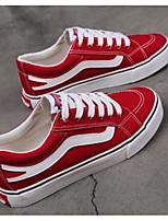 Недорогие -Муж. Комфортная обувь Полотно Весна На каждый день Кеды Черный / Красный