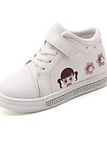billiga -Flickor Skor Kanvas / PU Vår & Höst / Vår & sommar Komfort Sneakers Promenad Strass / Snörning / Karborreband för Barn Vit / Röd / Rosa