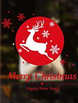 Недорогие -Оконная пленка и наклейки Украшение Рождество С принтом / Праздник ПВХ Новый дизайн / Cool / Магазин / Кафе