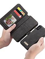baratos -CaseMe Capinha Para Apple iPhone X Carteira / Porta-Cartão / Flip Capa Proteção Completa Sólido Rígida PU Leather para iPhone X / iPhone 8 Plus / iPhone 8