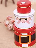 baratos -Caixas de Presente Natal Plástico e metal Circular Novidades Decoração de Natal