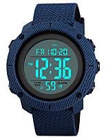 baratos -SKMEI Homens Relógio Esportivo Relógio Militar Japanês Digital 50 m Impermeável Alarme Calendário PU Banda Digital Luxo Fashion Preta / Azul / Verde - Verde Azul Preto / Branco Um ano Ciclo de Vida