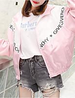 Недорогие -Жен. Куртка Классический - Контрастных цветов / Буквы