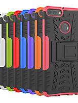 Недорогие -Кейс для Назначение Huawei Y9 (2018)(Enjoy 8 Plus) / Y6 (2018) Защита от удара / со стендом Кейс на заднюю панель Плитка / броня Твердый ПК для Y9 (2018)(Enjoy 8 Plus) / Huawei Y6 (2018) / Huawei Y6