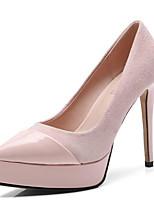 Недорогие -Жен. Комфортная обувь Замша Лето Обувь на каблуках На шпильке Черный / Синий / Розовый