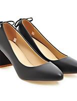 abordables -Femme Escarpins Polyuréthane Printemps Chaussures à Talons Talon Bottier Blanc / Noir / Rose