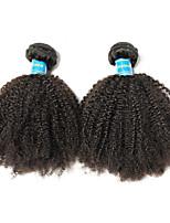 Недорогие -2 Связки Бразильские волосы Афро Не подвергавшиеся окрашиванию / Remy Человека ткет Волосы 8-26 дюймовый Нейтральный Ткет человеческих волос Машинное плетение Лучшее качество / 100% девственница