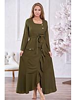 baratos -Mulheres Elegante balanço Vestido Sólido Longo