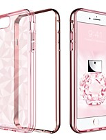 abordables -Coque Pour Apple iPhone 8 Plus / iPhone 7 Plus Plaqué / Translucide Coque Couleur Pleine Flexible TPU / PC pour iPhone 8 Plus / iPhone 7 Plus / iPhone 6s Plus
