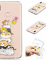 abordables -Coque Pour Huawei P20 Pro / P20 lite Motif Coque Chat Flexible TPU pour Huawei P20 / Huawei P20 Pro / Huawei P20 lite / P10 Lite