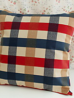 cheap -1 pcs Cotton / Linen Pillow Cover, Plaid / Checkered European Style