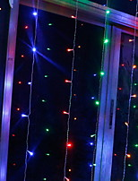 baratos -3x2m Cordões de Luzes 304 LEDs Multicolorido Decorativa / Adorável 220-240 V 1conjunto