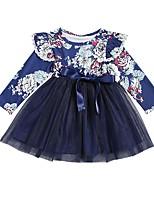 cheap -Kids / Toddler Girls' Floral Long Sleeve Dress