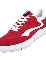 Недорогие -Муж. Комфортная обувь Полиуретан Осень Кеды Черный / Серый / Красный