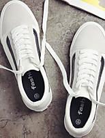 Недорогие -Муж. Комфортная обувь Полотно Лето На каждый день Кеды Белый / Черный