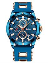 baratos -Homens Relógio Esportivo Relógio de Pulso Japanês Quartzo Japonês 30 m Calendário Relógio Casual Legal Silicone Banda Analógico Luxo Fashion Azul - Azul Um ano Ciclo de Vida da Bateria