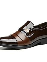 Недорогие -Муж. Официальная обувь Полиуретан Весна Деловые Мокасины и Свитер Черный / Коричневый