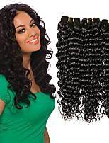 abordables -3 offres groupées Cheveux Indiens / Cheveux Mongoliens Ondulation profonde Non Traités / Cheveux humains Cadeaux / Costumes Cosplay / Tissages de cheveux humains 8-28 pouce Tissages de cheveux humains
