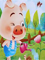 baratos -Quebra-Cabeças de Madeira Porco Escola / Brinquedos de descompressão Madeira / Bambu 1 pcs Infantil / Elementar Todos Dom
