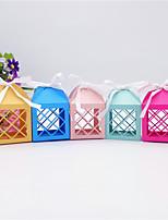 baratos -Cúbico Arte de Papel Suportes para Lembrancinhas com Caixilhos / Fitas / Combinação Caixas de Presente - 50pçs