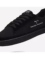 Недорогие -Муж. Комфортная обувь Полотно Лето Кеды Черный / Черно-белый / Белое / серебро
