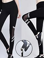 abordables -Femme Pantalon de yoga - Noir Des sports Éclat Taille Haute Leggings / Bas Course / Running, Fitness, Gymnastique Tenues de Sport Butt Lift, Contrôle du Ventre, Power Flex Haute élasticité Slim, Mince