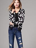 cheap -women's jacket - creative v neck
