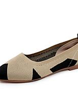 Недорогие -Жен. Комфортная обувь Трикотаж Осень На каждый день На плокой подошве На плоской подошве Бежевый / Красный / Контрастных цветов