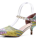 abordables -Femme Chaussures de confort Polyuréthane Automne Chaussures à Talons Talon Bas Violet / Jaune / Rouge