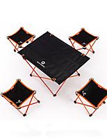 cheap -BEAR SYMBOL Camping Folding Chair / Camping Table Outdoor Lightweight, Rain-Proof, Anti-Slip Oxford Cloth, 7075 Aluminium for Fishing / Camping Blue / Orange