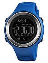 baratos -SKMEI Homens Relógio Esportivo Relógio Militar Japanês Digital 50 m Bluetooth Alarme Calendário PU Banda Digital Casual Fashion Preta / Azul / Verde - Azul Prata / Black Khaki Um ano Ciclo de Vida da