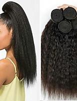 abordables -4 offres groupées Cheveux Indiens / Cheveux Vietnamiens Droit Yaki Non Traités / Cheveux humains Cadeaux / Costumes Cosplay / Tissages de cheveux humains 8-28 pouce Tissages de cheveux humains