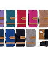 Недорогие -Кейс для Назначение Apple iPhone XR / iPhone XS Max Кошелек / Бумажник для карт / со стендом Чехол Однотонный Твердый текстильный для iPhone XS / iPhone XR / iPhone XS Max