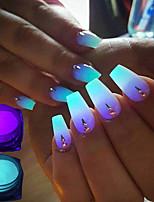 cheap -4 pcs Glitter Powder Color Gradient / High quality, formaldehyde free Romantic Series Rainbow nail art Manicure Pedicure Christmas / Halloween / Masquerade Artistic / Aristocrat Lolita