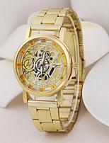 baratos -Homens Casal Relógio Esportivo Relógio Elegante Japanês Quartzo 30 m Relógio Casual Mostrador Grande Aço Inoxidável Banda Analógico Casual Fashion Prata / Dourada - Dourado Prata